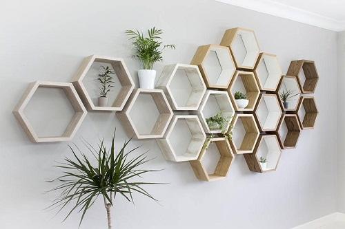 Kệ treo tường tổ ong