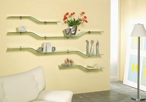 Kệ treo tường bằng kính