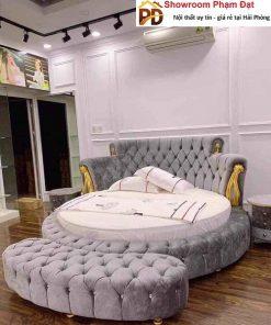 giường ngủ bọc nỉ