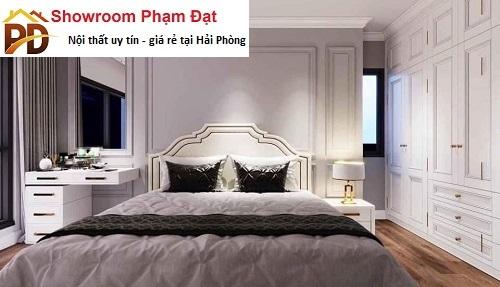 bộ giường ngủ trắng