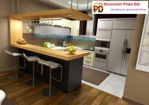 thiết kế bàn ăn liền bếp Phạm Đạt