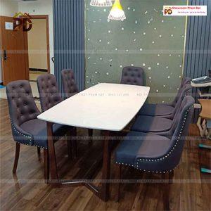 bàn an 8 ghế hiện đại