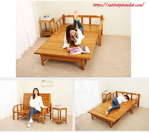 Giường gỗ gấp 3 khúc