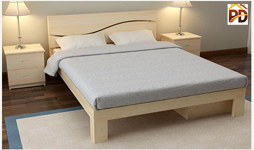 Giường gỗ công nghiệp có chân