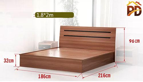 Giường gỗ 1 8m x 2m